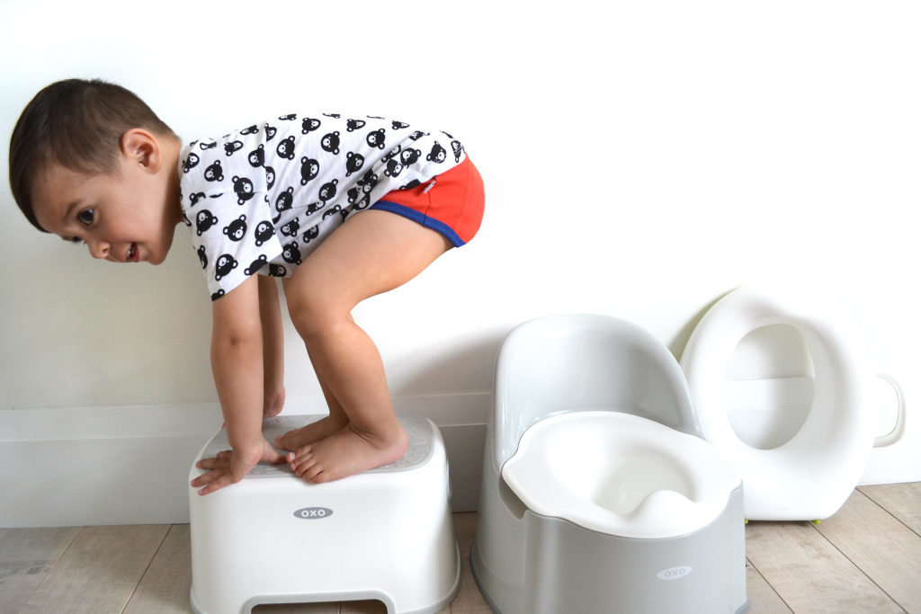 Potty training options featuring OXO TOT Potty Chair