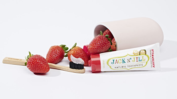 Jack n' Jill Natural Organic Toothpaste in Strawberry