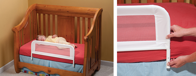 Convertible crib bed rail from Kidco for child safety