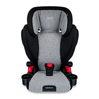 Booster car seat black with grey liner