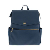 Navy blue Freshly Picked backpack style diaper bag