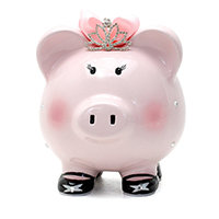 Piggy Bank with Tiara