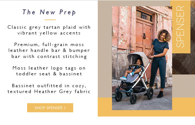 UPPAbaby Vista Spenser Stroller with Grey Tartan Plaid