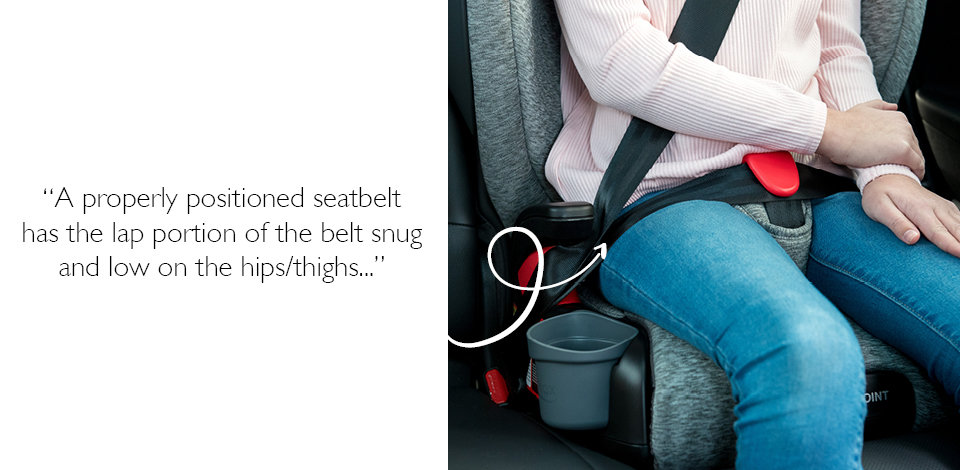 booster seat belt positioning