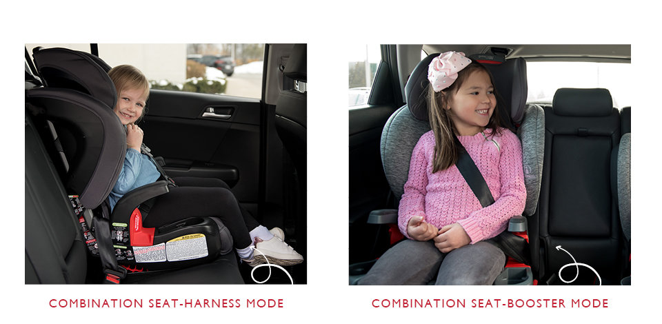 harness and booster combination car seat