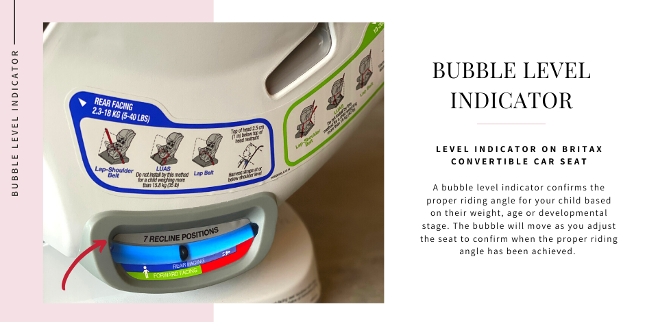 bubble level indicator britax convertible car seat