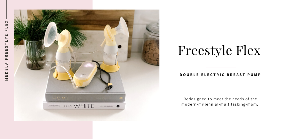 medela-freestyle-flex-breast-pump-on-stack-of-books-in-kitchen