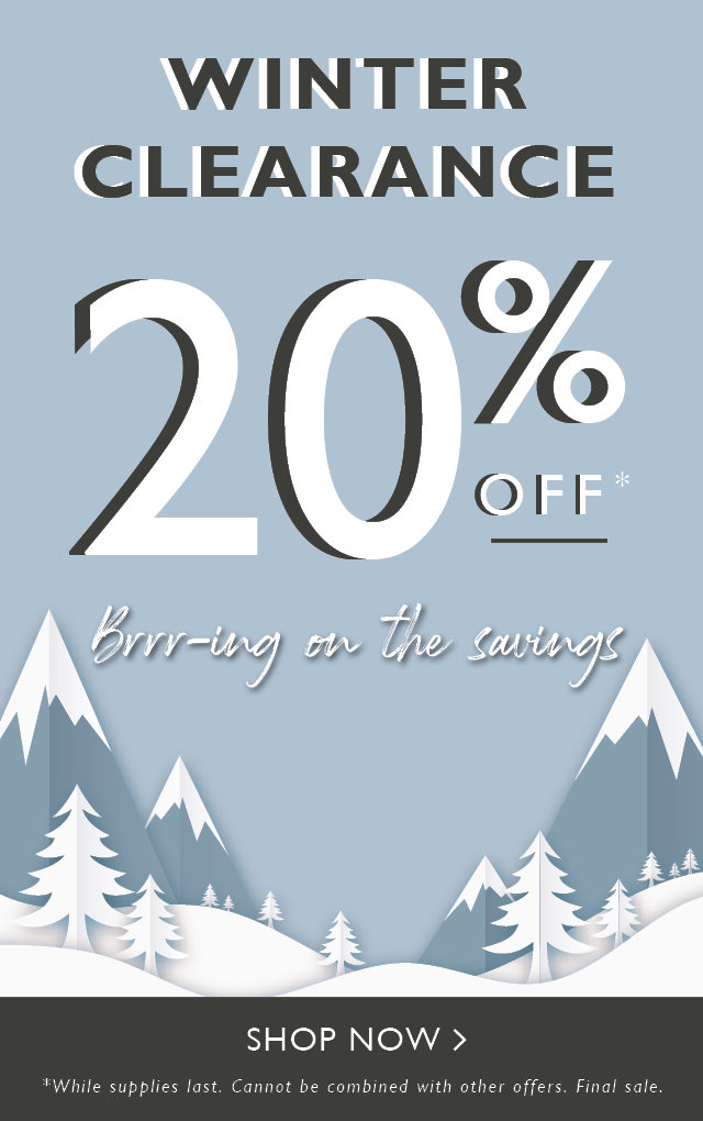 20% off Winter Clearance