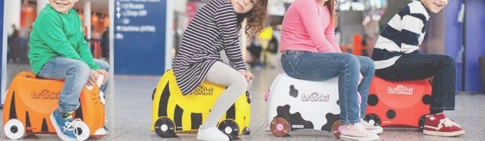 Cat banners trunki ride on suitcase