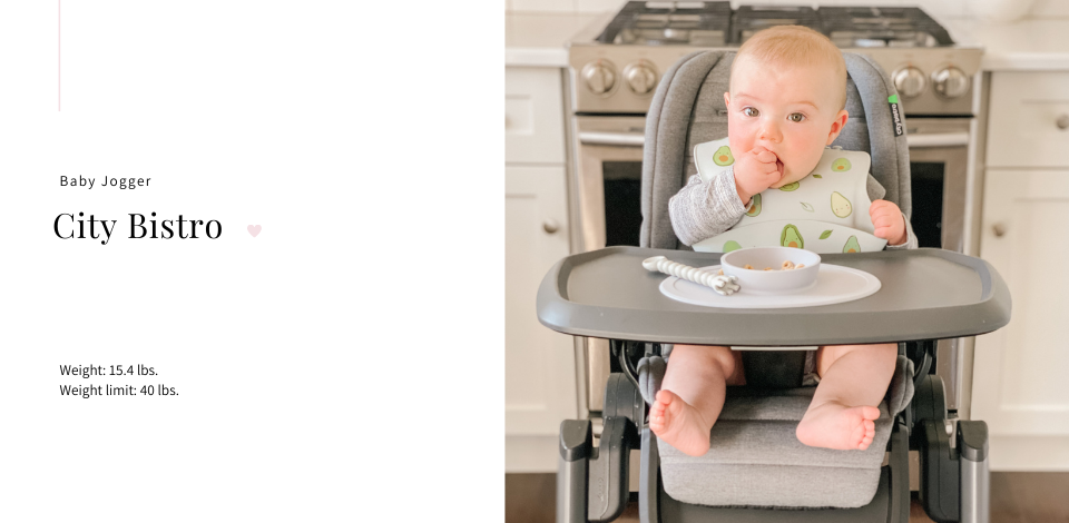 baby in Baby Jogger City Bistro High Chair