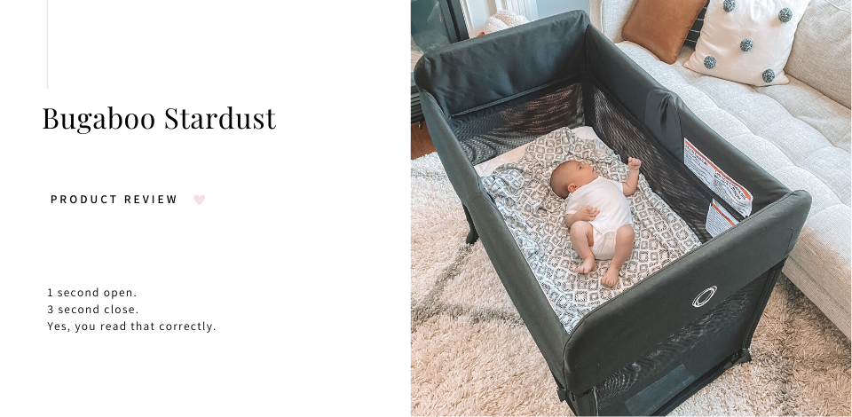baby lounging in Bugaboo Stardust