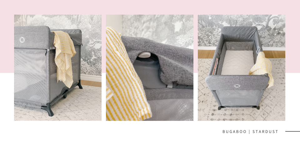 Bugaboo Stardust shown in 3 different angles