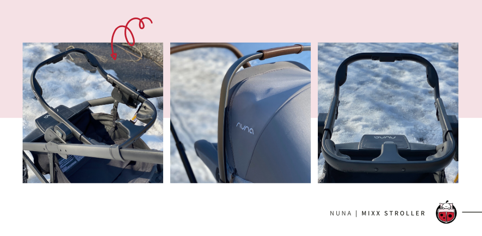 Nuna MIXX ring adapter shown on top of the stroller frame