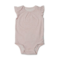 Blush pink with floral design baby onesie by Loulou Lollipop