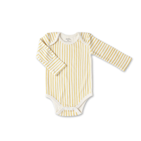 Yellow stripped onesie by Pehr