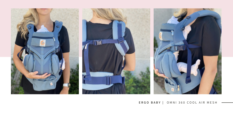 ERGObaby Omni 360 Cool Air Mesh carrier in Oxford Blue