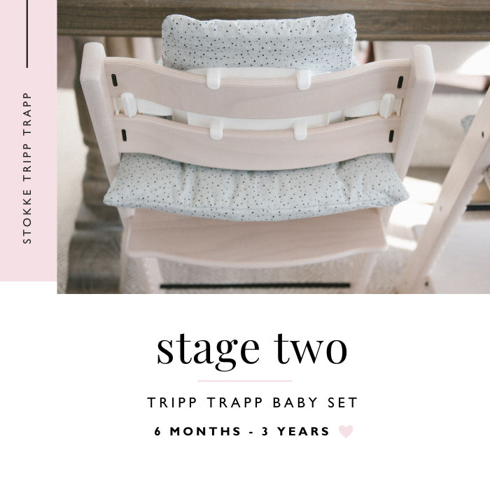 Back view of Stokke Tripp Trapp High Chair Baby Set