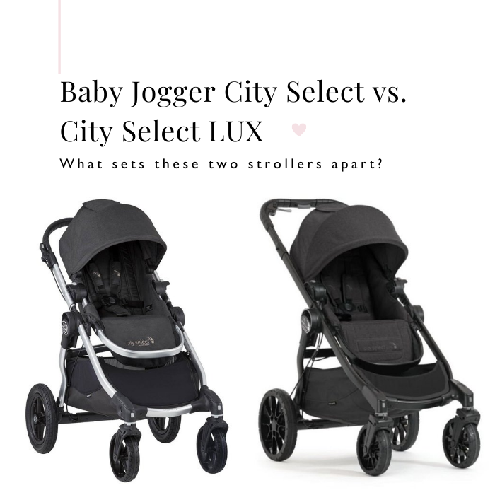 Side by side comparison of Baby Jogger City Select & City Select LUX Strollers