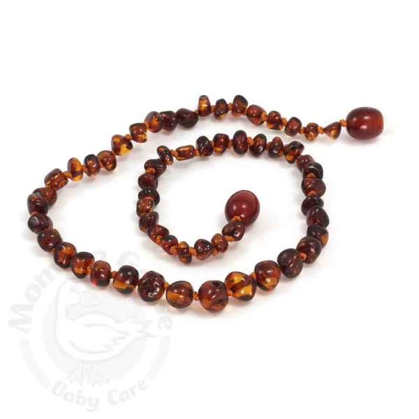 """View larger image of 11"""" Amber Teething Necklace"""