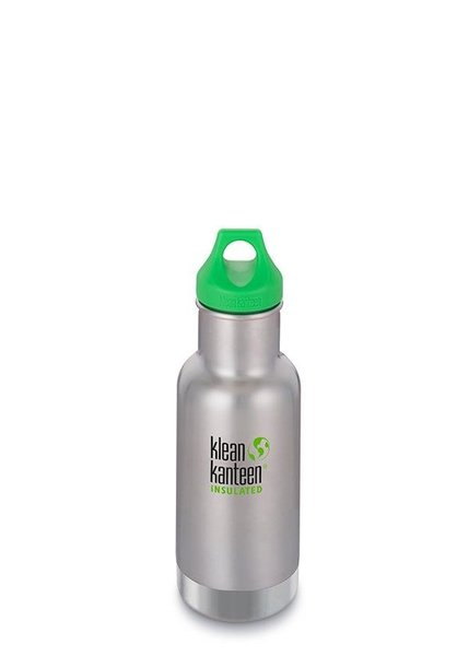 View larger image of 12oz Water Bottle w/Loop Cap - Brushed Stainless