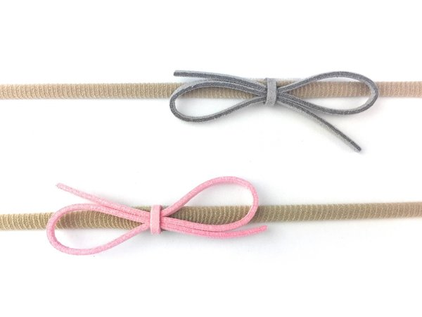 View larger image of Faux Suede Bow Headbands