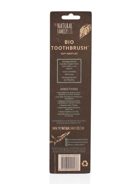 View larger image of Bio Toothbrush Twin Pack - Black & Ivory
