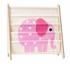 3Sprouts Book Rack - Pink Elephant