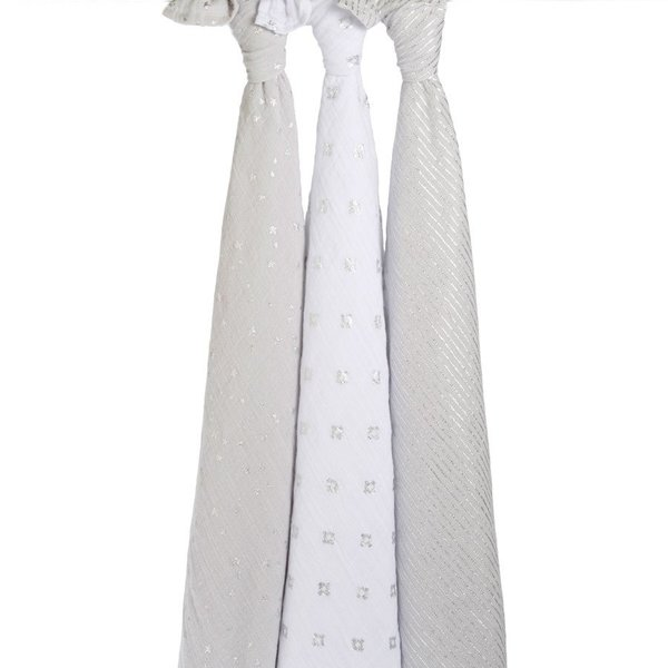 View larger image of Swaddles - 3 Pack - Metallic Charm