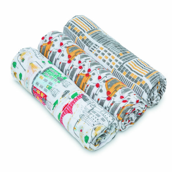 View larger image of 3pk Swaddle-City Living