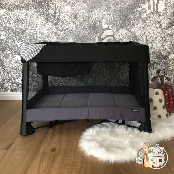 View larger image of Breeze Plus Playard - Black/Grey
