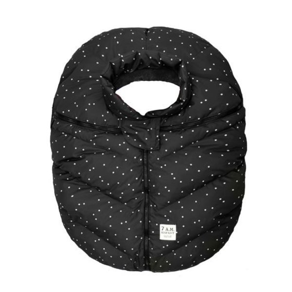 View larger image of Car Seat Cocoon - Black Petit Pois