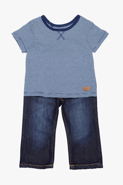 View larger image of Standard Jeans and Striped Top - 0-3 Months