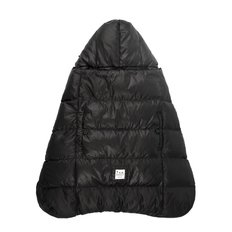 K-Poncho Fleece - Black Plush