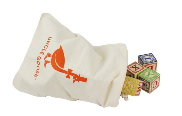 View larger image of Classic ABC Blocks w/ Canvas Bag