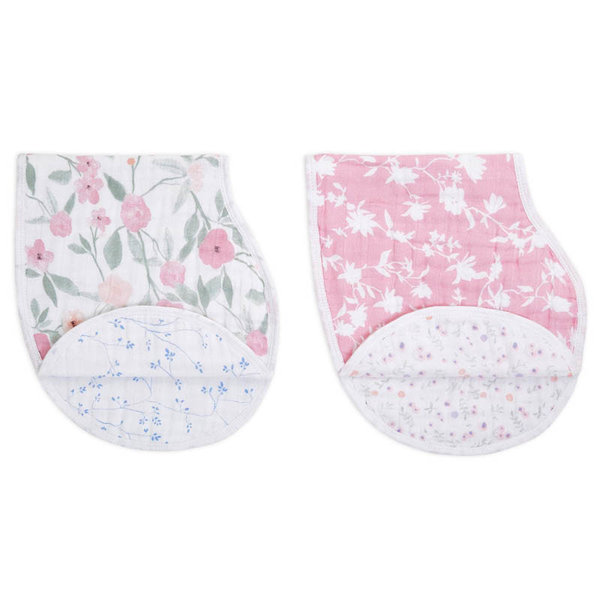 View larger image of Cotton Muslin Burpy Bibs - 2 Pack