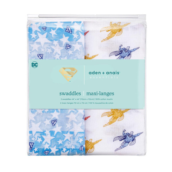 View larger image of Essentials Superhero Swaddles - 2 pack