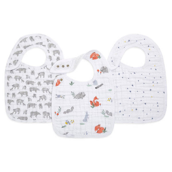 View larger image of Snap Drool Bibs - 3 Pack