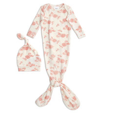 Snuggle Knit Newborn Knotted Gown + Hat Set