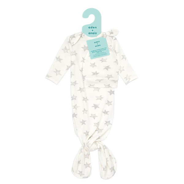 View larger image of Snuggle Knit Newborn Knotted Gown + Hat Set