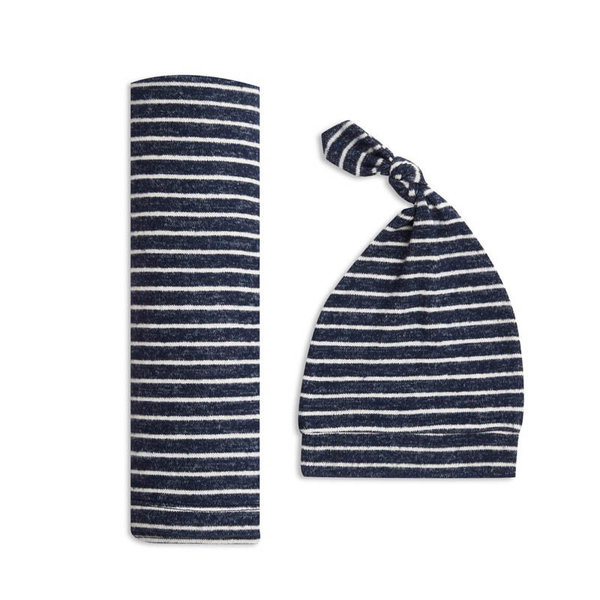 View larger image of Snuggle Knit Swaddle + Hat Gift Set