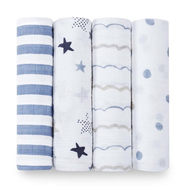 View larger image of Cotton Muslin Swaddles - 4 Pack