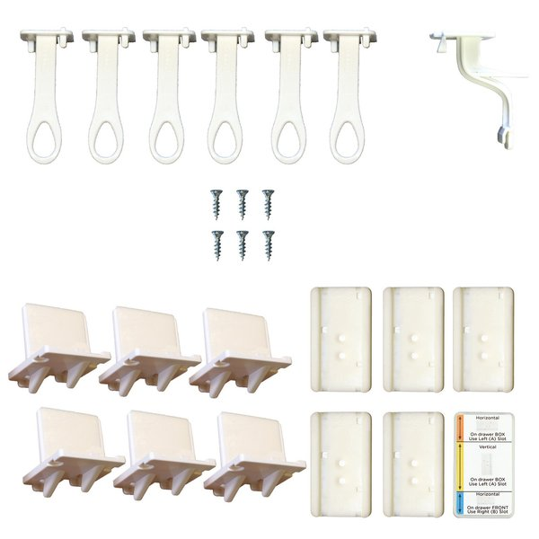 View larger image of Adhesive Lower Drawer Latch - 6 Pack