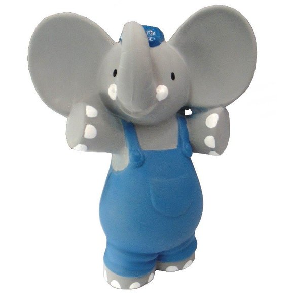 View larger image of Alvin the Elephant Rubber Toy Squeaker