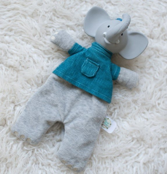 View larger image of Alvin the Elephant Soft Rattle