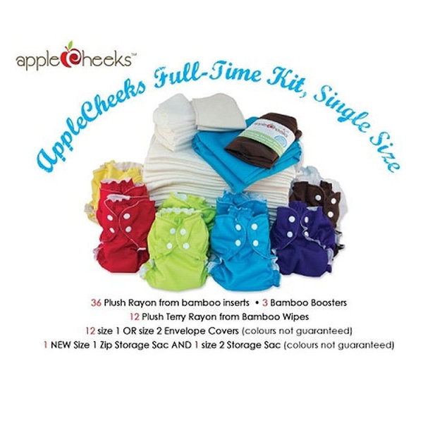 View larger image of Bamboo Full Time Cloth Diaper Kit - Size 1 & 2