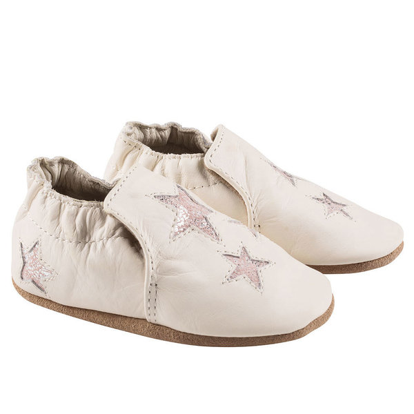 View larger image of  Aria Soft Sole Shoes - Ivory/Pink