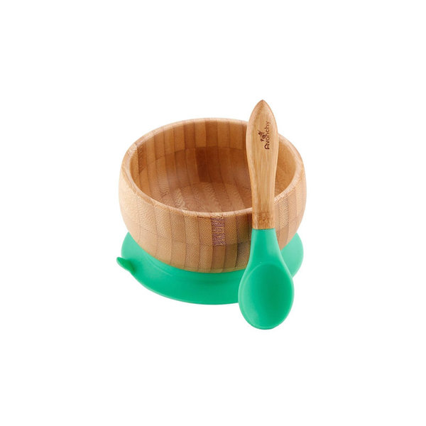 View larger image of Bamboo Suction Baby Bowl + Spoon Set