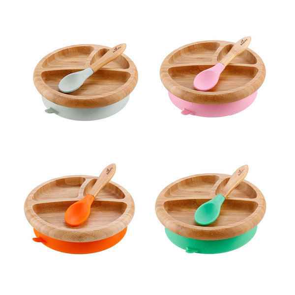 View larger image of Bamboo Suction Baby Plate + Spoon Set