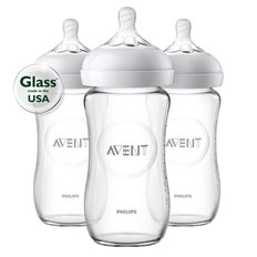 Natural 8oz Glass Bottles - 3pk