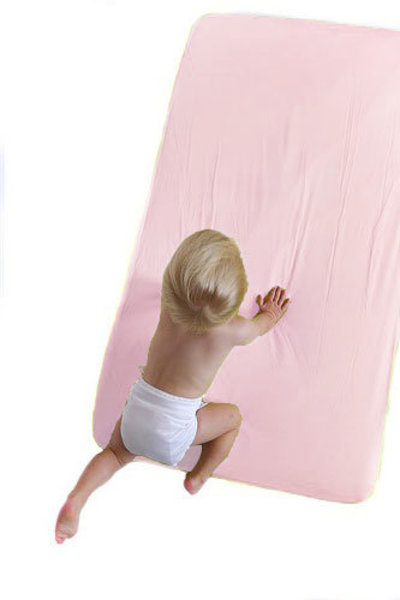 View larger image of 2-in-1 Fitted Crib Sheet - Pink